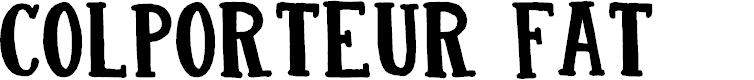 Preview image for DK Colporteur Fat Regular Font