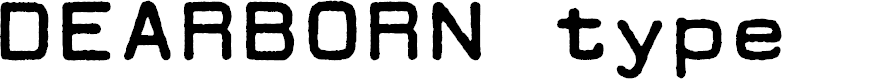 Preview image for DEARBORN type Font