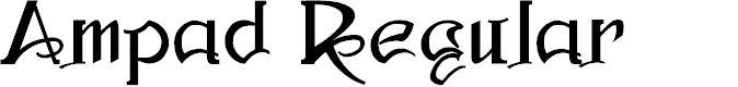 Preview image for Ampad Regular Font
