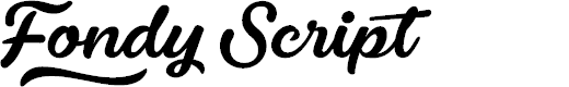Preview image for Fondy Script PERSONAL USE ONLY Font