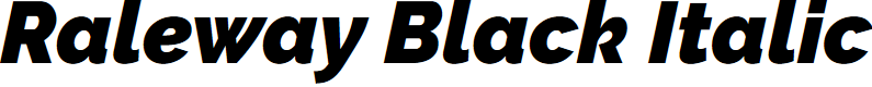 Preview image for Raleway Black Italic