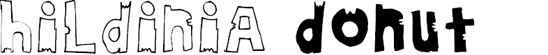 Preview image for HildiniaDonut Font