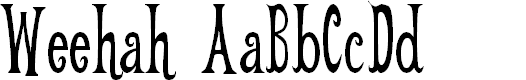 Preview image for Weehah Font
