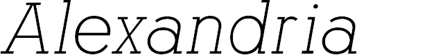 Preview image for AlexandriaFLF-Italic