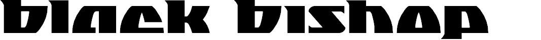 Preview image for Black Bishop Font