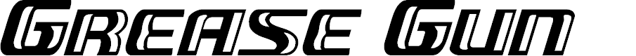 Preview image for Grease Gun Italic Font