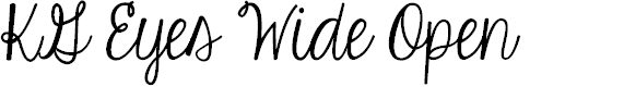 Preview image for KG Eyes Wide Open Font
