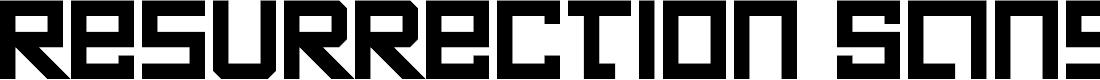 Preview image for Resurrection Sans Regular Font