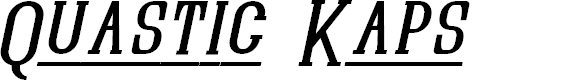 Preview image for Quastic Kaps Line Italic