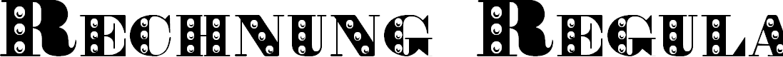 Preview image for Rechnung Regular Font