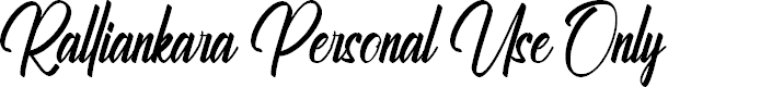 Preview image for Ralliankara Personal Use Only Font