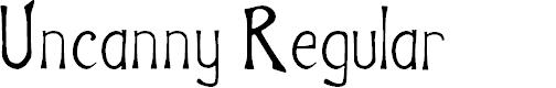 Preview image for Uncanny Regular Font