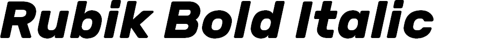 Preview image for Rubik Bold Italic