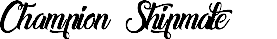 Preview image for Champion Shipmate-Italic Font
