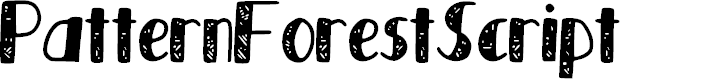 Preview image for Pattern_Forest_Script Font