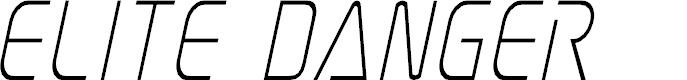 Preview image for Elite Danger Condensed Italic