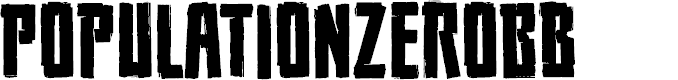 Preview image for PopulationZeroBB Font