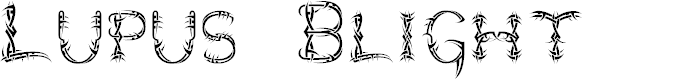 Preview image for Lupus Blight Font
