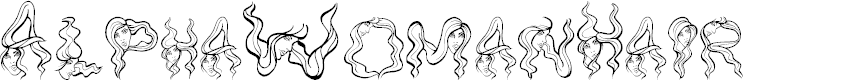 Preview image for AlphaWomanHair Font