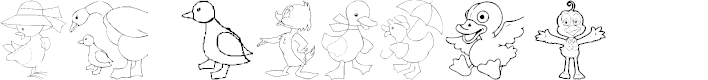 Preview image for AEZ here ducky, ducky Font
