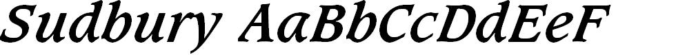 Preview image for Sudbury Book Bold Italic