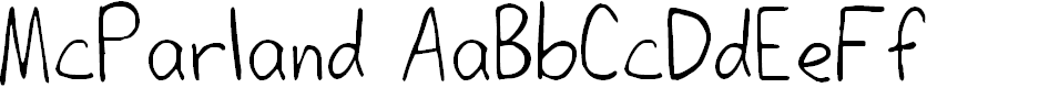 Preview image for McParland Regular Font
