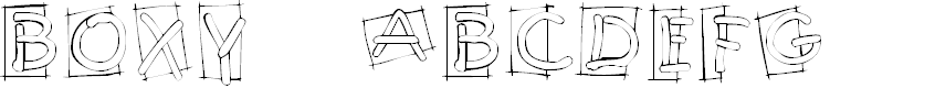 Preview image for KR Boxy Font