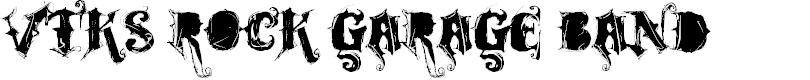 Preview image for VTKS ROCK GARAGE BAND Font