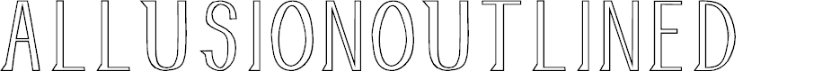 Preview image for AllusionOutlined Font