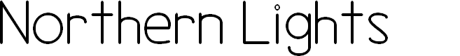 Preview image for Northern Lights Font