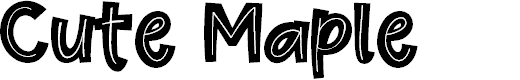 Preview image for Cute Maple Font