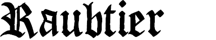 Preview image for Raubtier Font