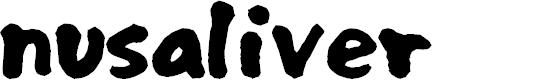 Preview image for nusaliver Font