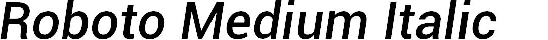 Preview image for Roboto Medium Italic
