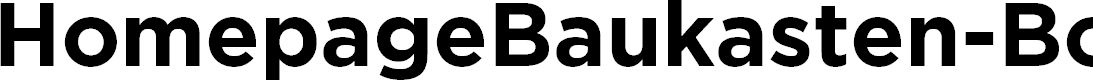 Preview image for HomepageBaukasten-Bold Font