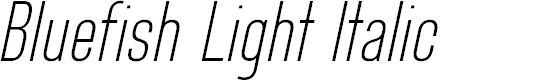 Preview image for Bluefish Light Demo Italic
