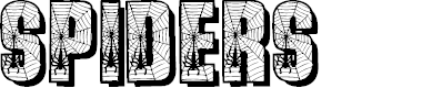 Preview image for Spiders Font