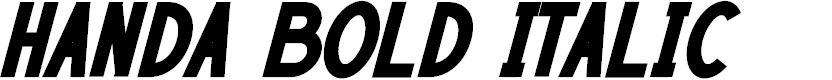 Preview image for HANDA Bold Italic Font