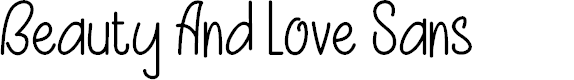 Preview image for Beauty And Love SansFree Font