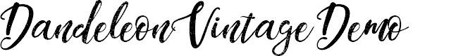 Preview image for DandeleonVintageDemo Font
