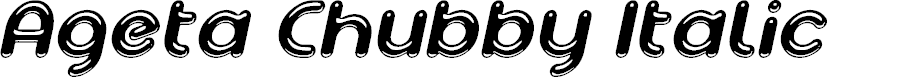 Preview image for Ageta Chubby Demo Italic