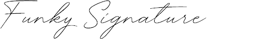 Preview image for Funky Signature Font