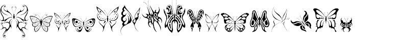 Preview image for Tribal Butterflies Font