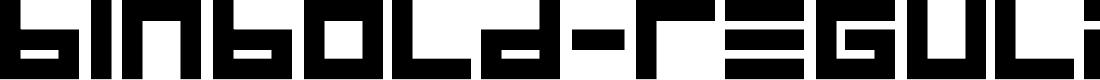 Preview image for BINBold-Regular Font
