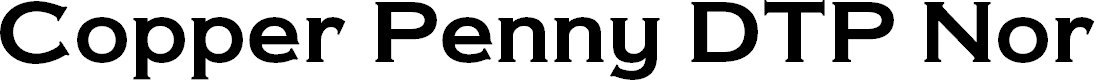 Preview image for Copper Penny DTP Normal Font