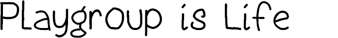 Preview image for Playgroup is Life Font