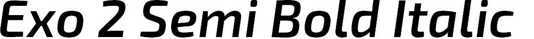 Preview image for Exo 2 Semi Bold Italic