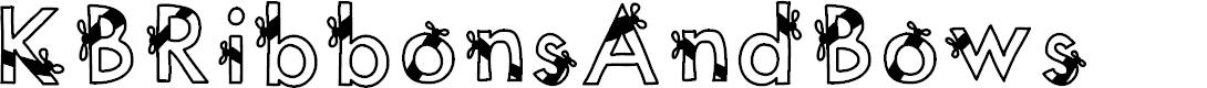 Preview image for KBRibbonsAndBows Font