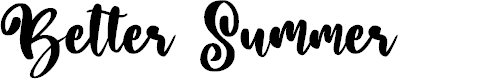 Preview image for Better Summer Font