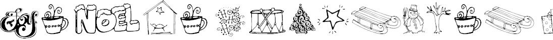 Preview image for Janda Christmas Doodles Font
